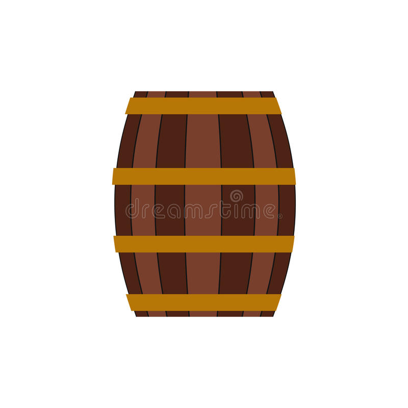 Barrel with honey flat icon royalty free illustration