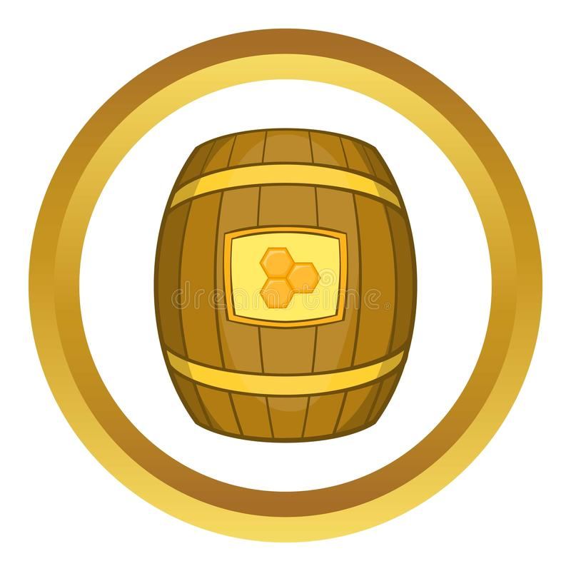 Barrel of honey icon stock illustration