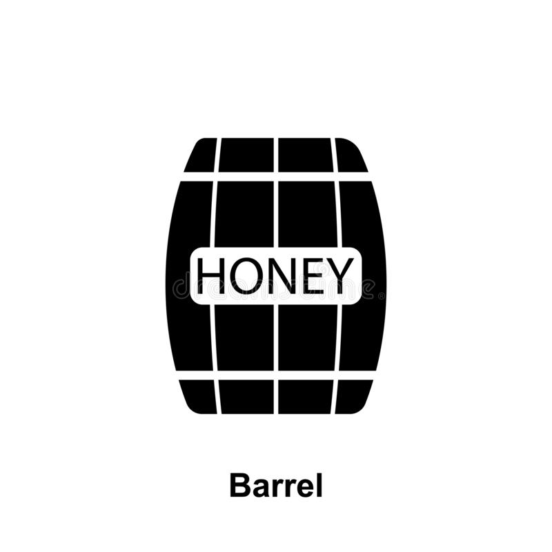 barrel with honey icon. Element of beekeeping icon. Premium quality graphic design icon. Signs and symbols collection icon for royalty free illustration