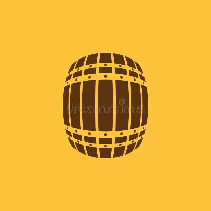 The Barrel icon. Cask and keg, beer, Barrel symbol. UI. Web. Logo. Sign. Flat design. App. Stock stock illustration