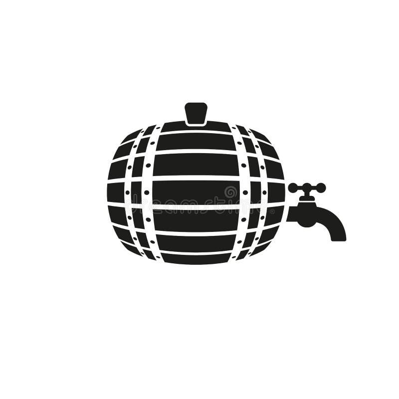 The Barrel icon. Cask and keg, beer symbol. UI. Web. Logo. Sign. Flat design. App. Stock stock illustration