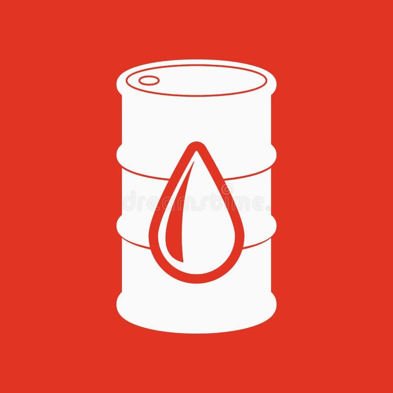 The barrel icon. Cask and oil, gasoline, petrol, benzine symbol. Flat royalty free illustration