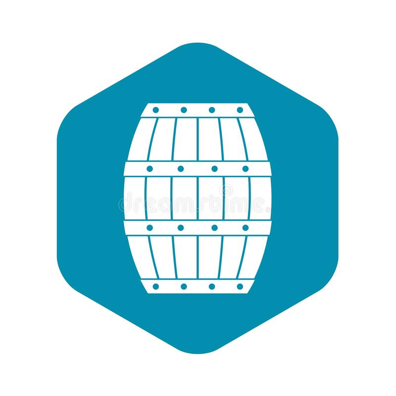 Barrel icon, simple style stock illustration