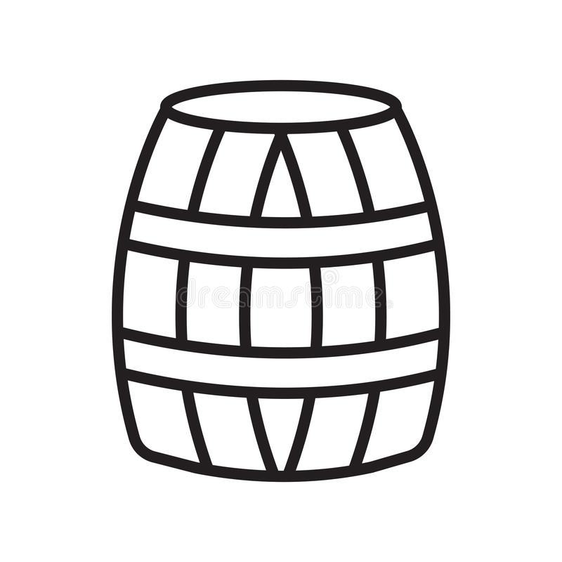 Barrel icon vector sign and symbol isolated on white background. Barrel icon vector isolated on white background for your web and mobile app design, Barrel logo royalty free illustration