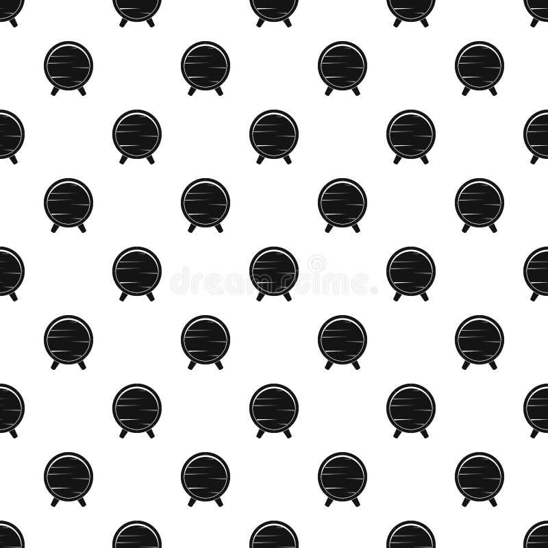Barrel on legs pattern vector. Barrel on legs pattern seamless in simple style vector illustration royalty free illustration