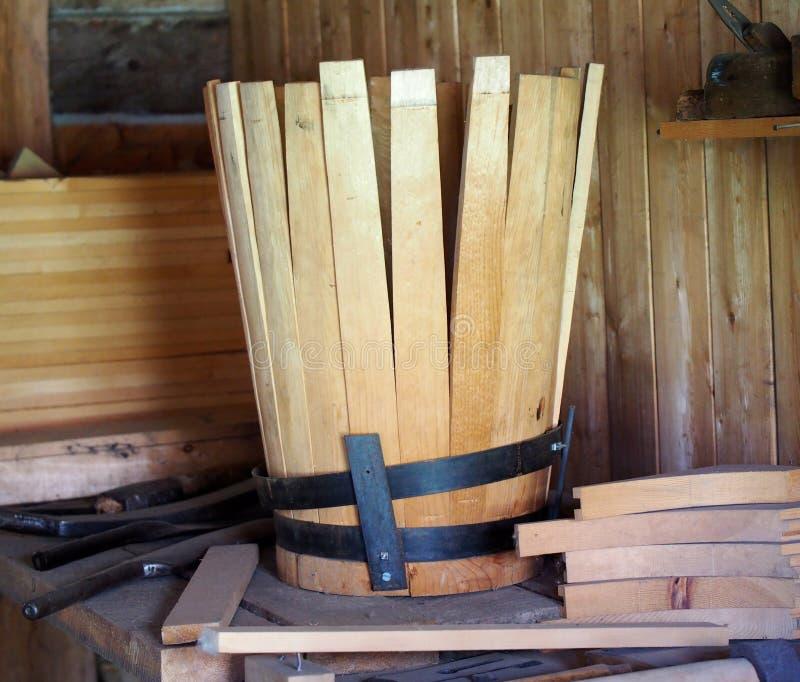 Barrel Maker's Or Cooper's Workshop royalty free stock images