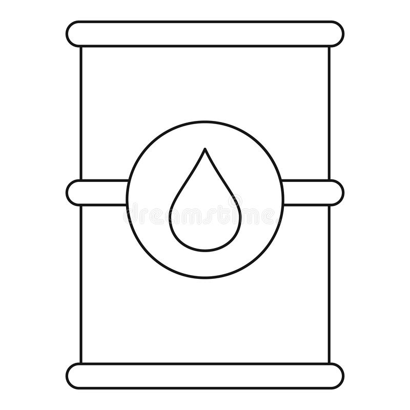 Barrel of oil icon, outline style royalty free illustration
