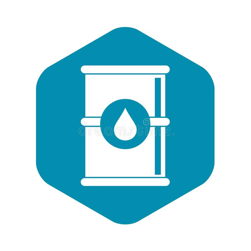 Barrel of oil icon, simple style royalty free illustration