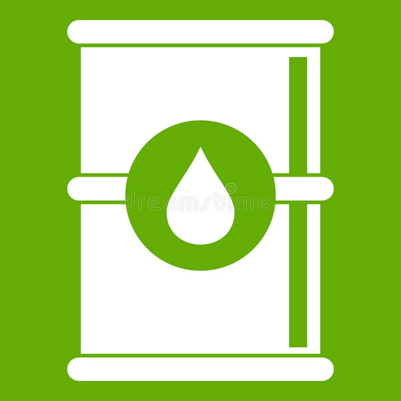 Barrel of oil icon green royalty free illustration