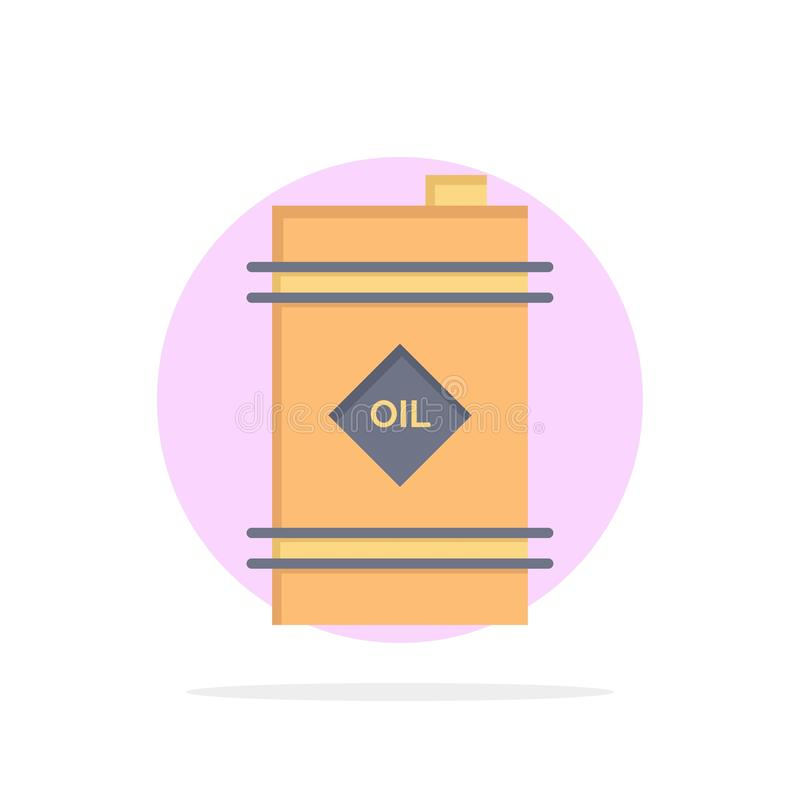 Barrel, Oil, Oil Barrel, Toxic Abstract Circle Background Flat color Icon vector illustration
