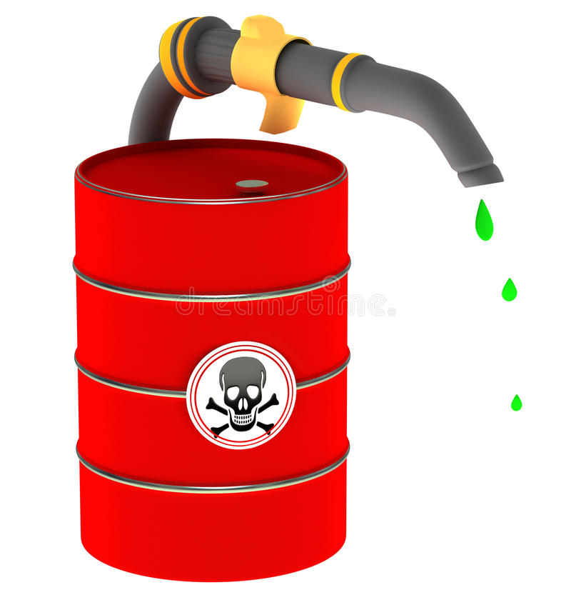 A barrel of poison stock illustration