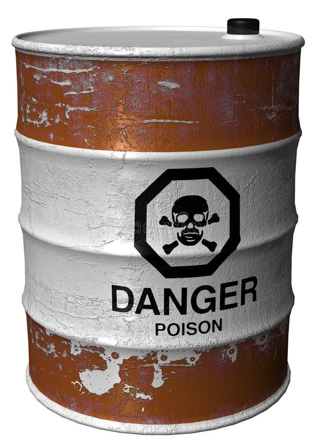 Barrel With Poison Stock Photos