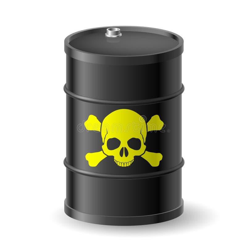 Barrel With Poisonous Substances Stock Images
