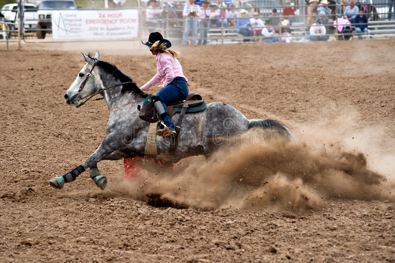 Barrel Racer stock photo. Image of animal, competition