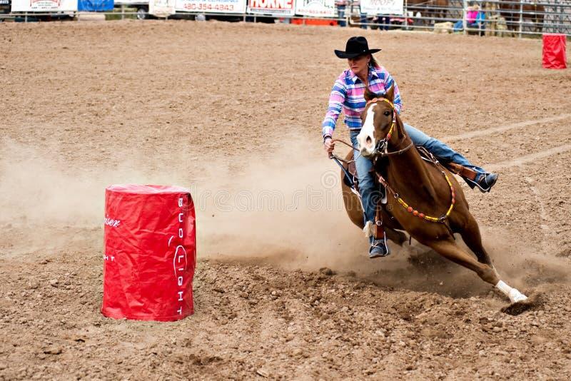 Barrel race royalty free stock photography