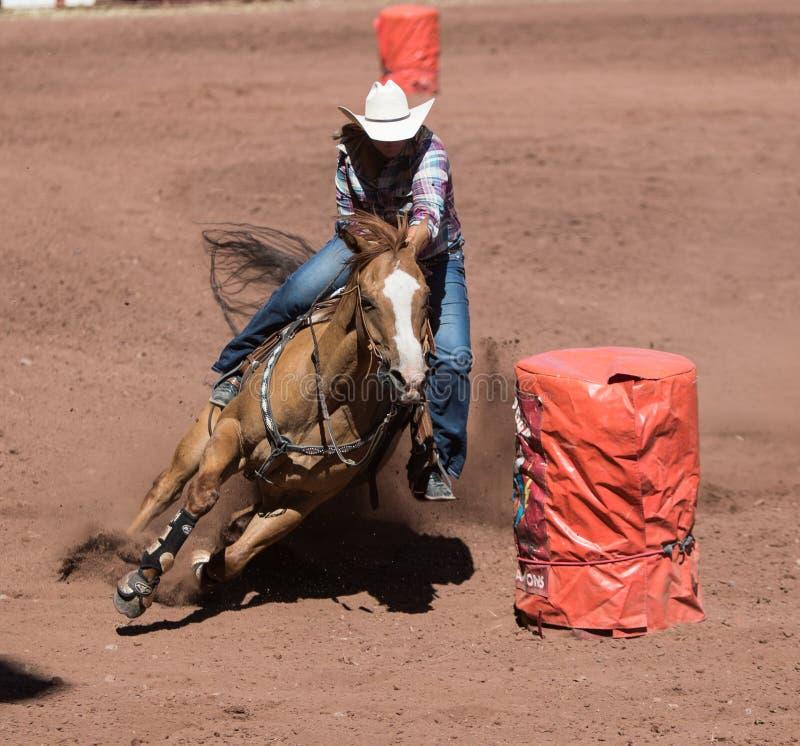 Rodeo: Ladies Barrel Racing Editorial Stock Photo - Image