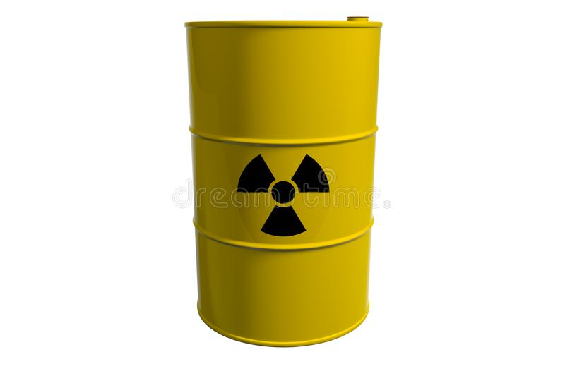 Barrel with radioactive waste. Isolated. 3D render. Barrel with radioactive waste. Isolated on white background. 3D render stock illustration