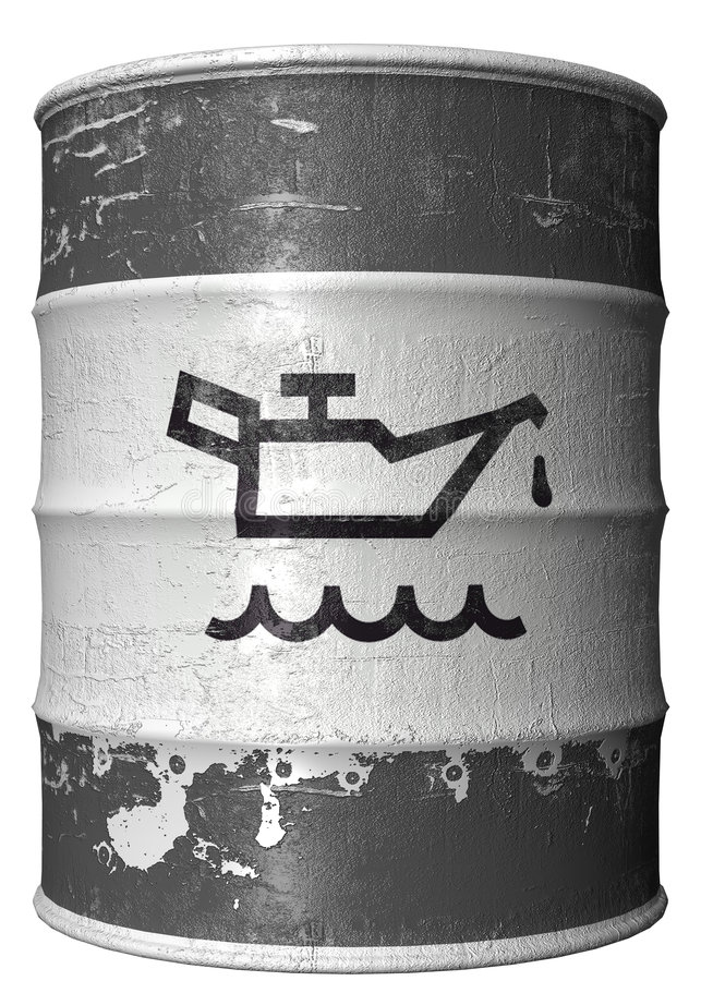 Barrel With A Symbol Of Oil Stock Image