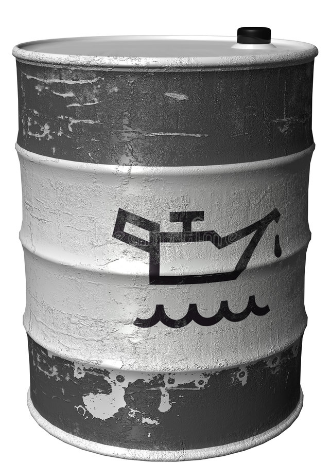 Barrel with a symbol of oil rotated