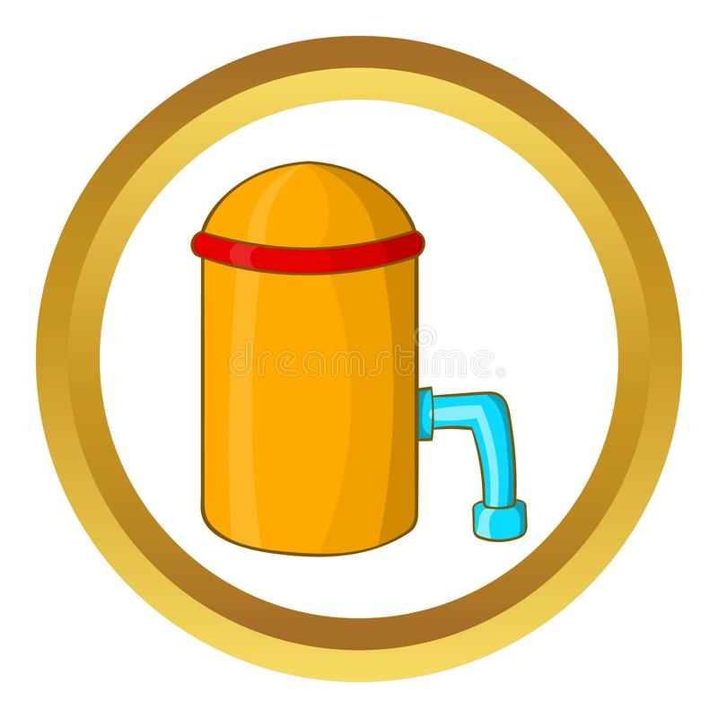 Barrel with tap icon stock illustration