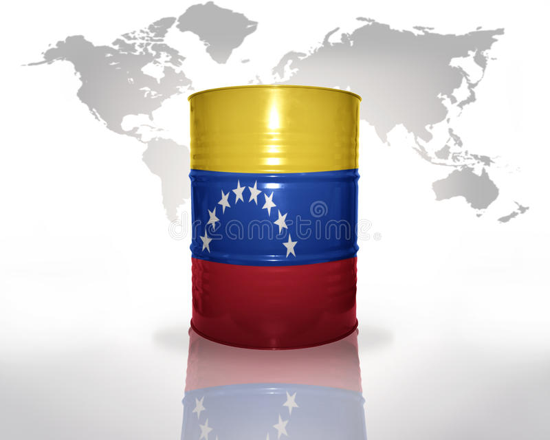 Barrel with venezuelan flag royalty free illustration
