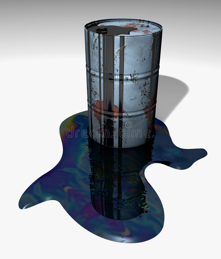 Download Barrel with wasted oil stock illustration. Illustration of warming - 5850443