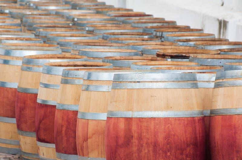 Barrel of wine, Stellenbosch, Western Cape, South Africa. Barrel of wine in the harvest season ready to be filled, Stellenbosch, Western Cape, South Africa stock photos