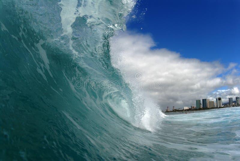 Barreling wave royalty free stock image