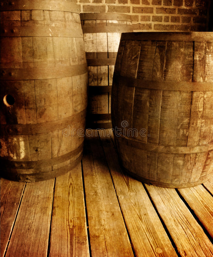 barrells παλαιό κρασί στοκ φωτογραφία
