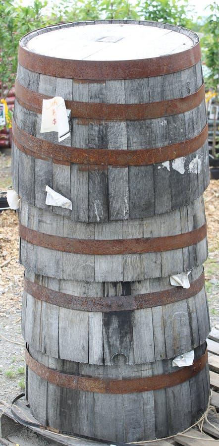 barrels деревянное стоковое изображение