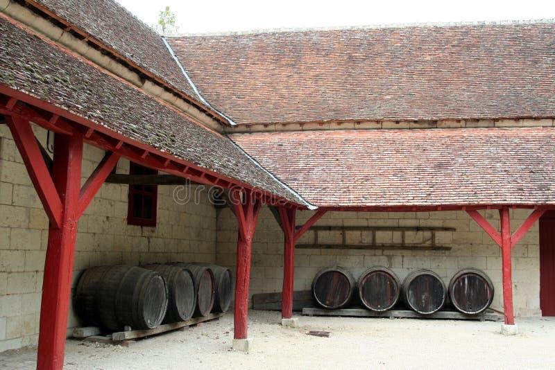 barrels крыша Франции вниз стоковые фотографии rf