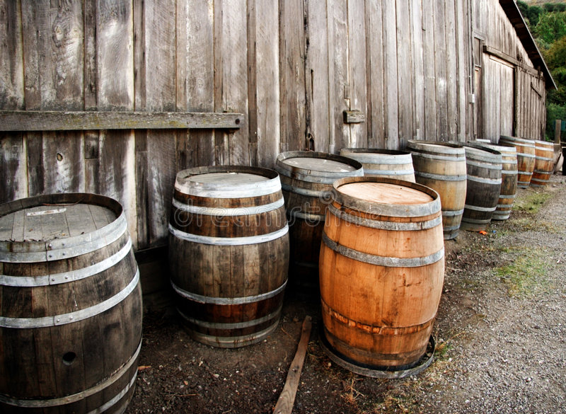 Download Barrels stock image. Image of grape, industry, valley - 1403793