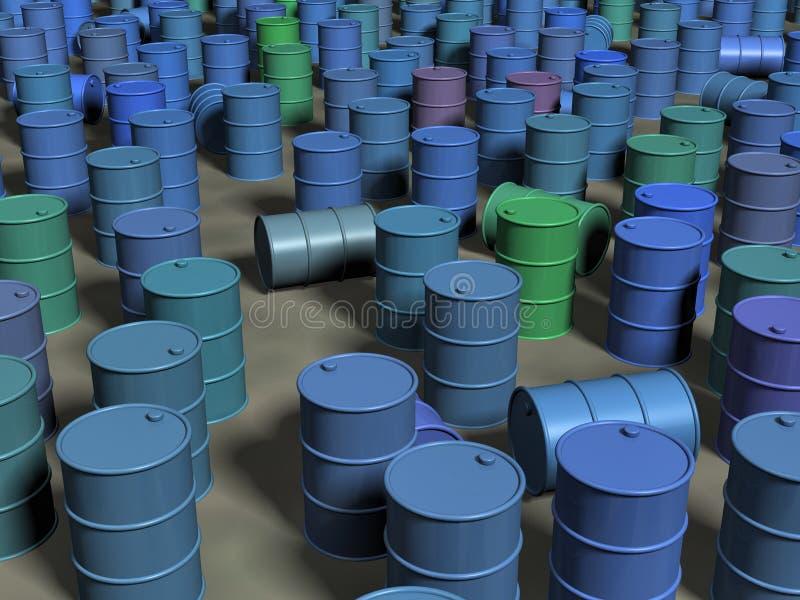 Download Barrels stock illustration. Image of gasoline, chemical - 18752200