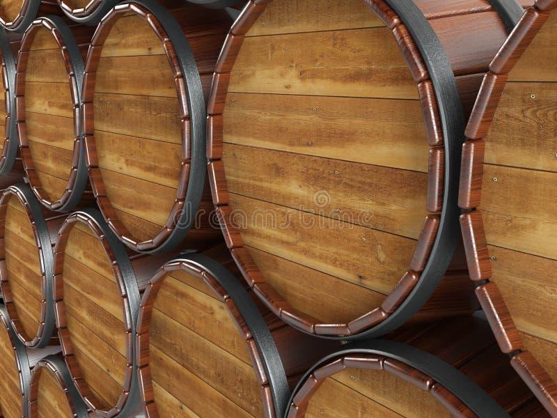 Barrels.Barrels hoofd. royalty-vrije illustratie