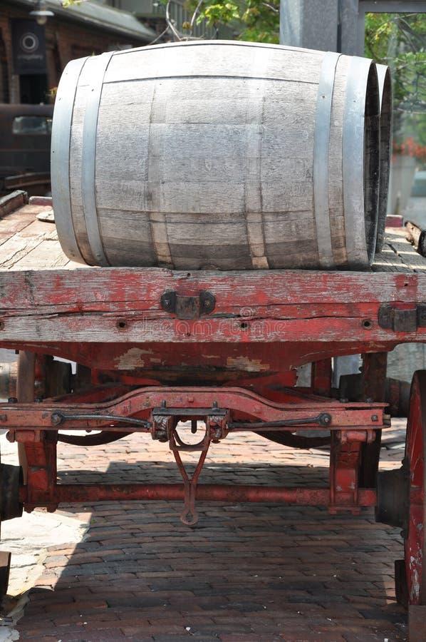 barrels gammalt trä arkivbild