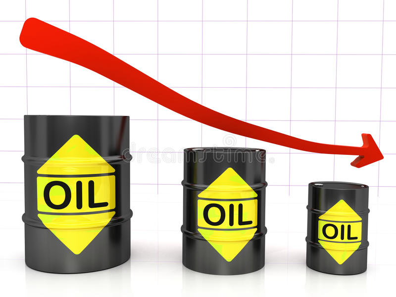 Barrels of Oil vector illustration