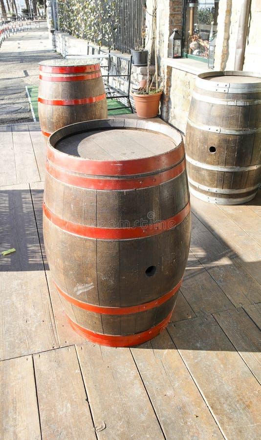 barrels trä royaltyfri foto