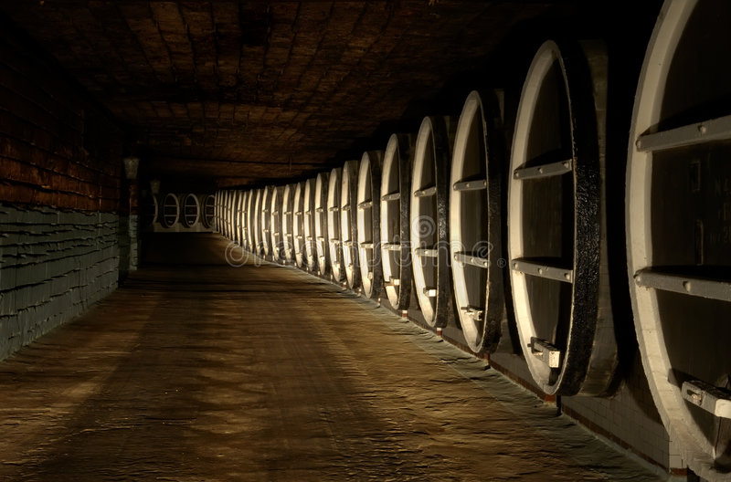 Barrels of wine royalty free stock photography