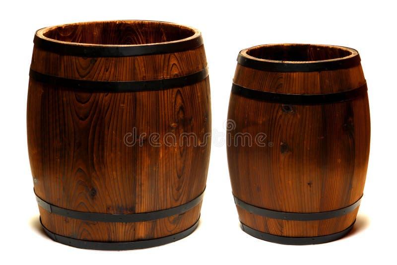 barrels wood 免版税库存图片