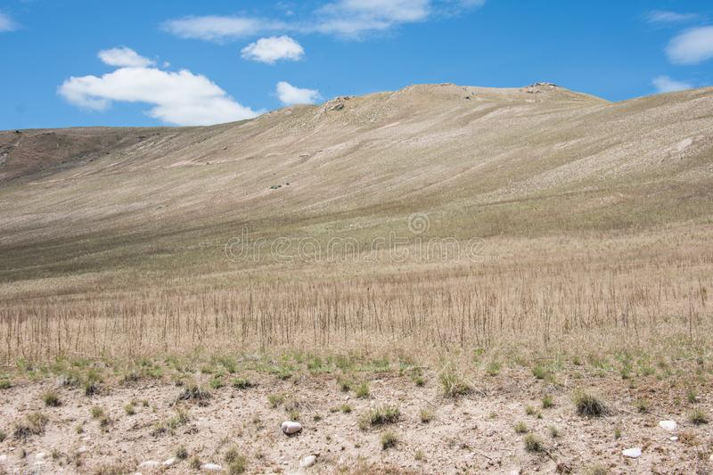Barren foothills landscape in Antelope Island State Park, near Salt Lake City, UTAH. With lots of copyspace stock photo