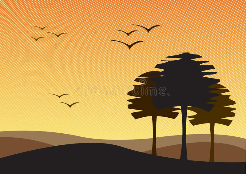 Download Barren landscape stock vector. Image of brown, silhouette - 10637111