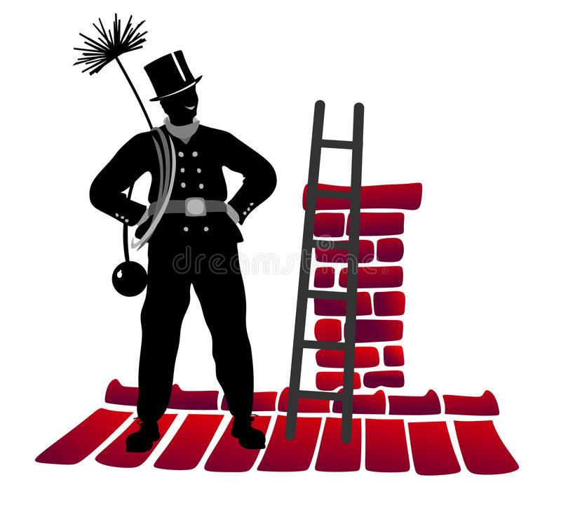 Barrendero de la chimenea libre illustration