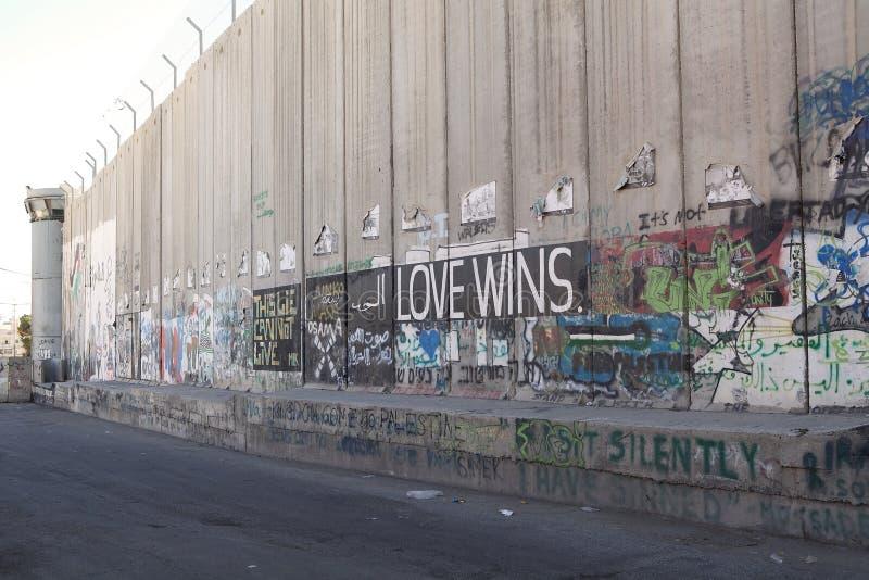 Barrera de Cisjordania del israelí imágenes de archivo libres de regalías