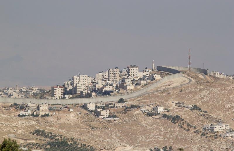 Barrera de Cisjordania del israelí foto de archivo