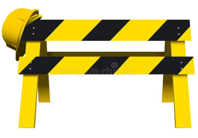 Barrera de la seguridad de la construcci n ilustraci n del - Barrera de seguridad ...