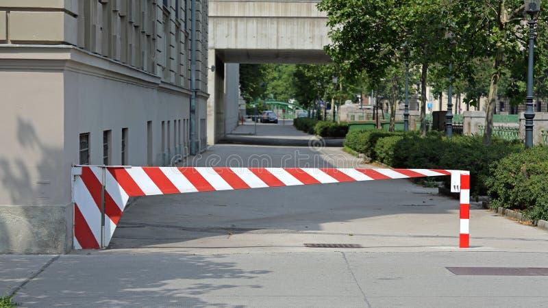 Barrera del estacionamiento imagen de archivo libre de regalías
