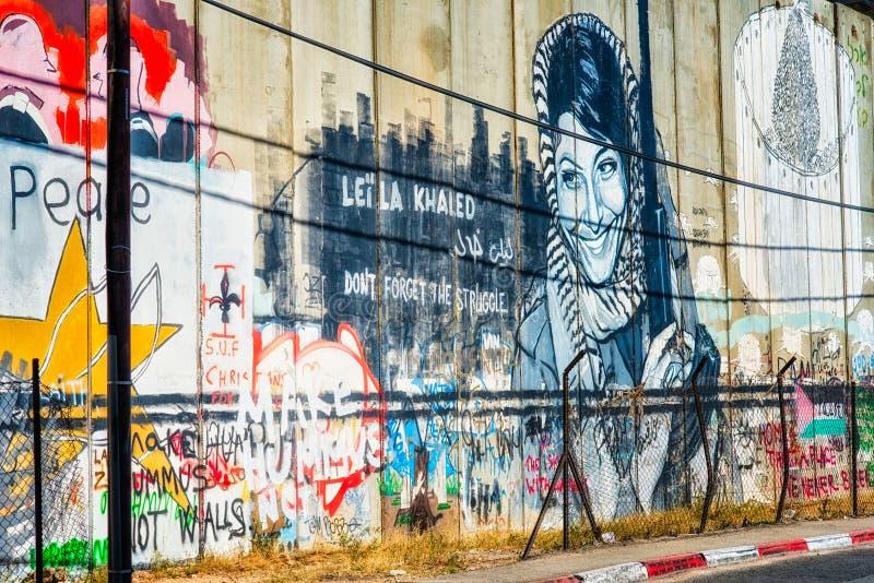 Barrera israelí fotos de archivo libres de regalías