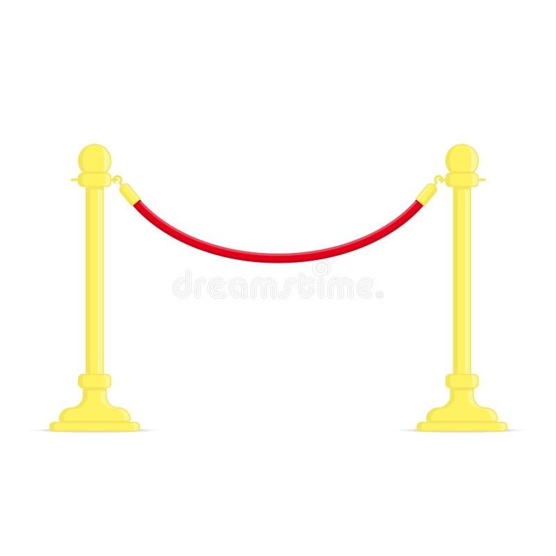 Barreras de la cuerda del soporte ilustración del vector