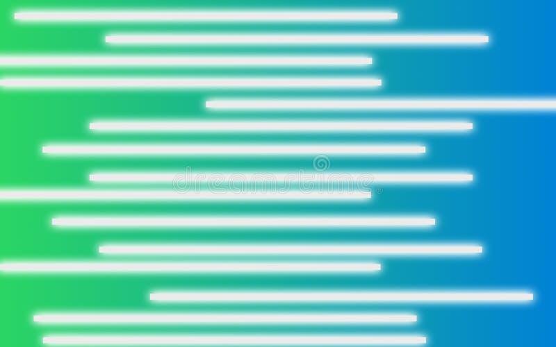 Barres blanches sur le fond vert-bleu - papier peint simple abstrait de Digital illustration de vecteur