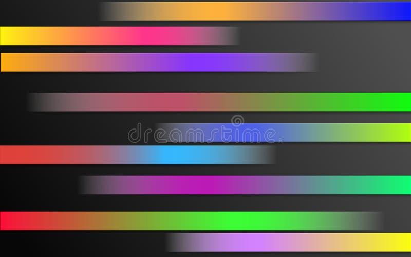 Barres colorées de gradient de couleur - le graphique barre le papier peint illustration libre de droits